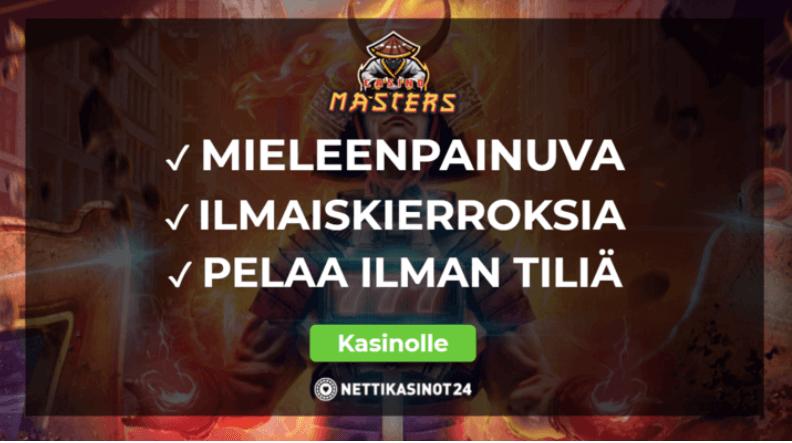 Pelaa ieleenpainuvalla casino masters kasinolla - Casino Masters