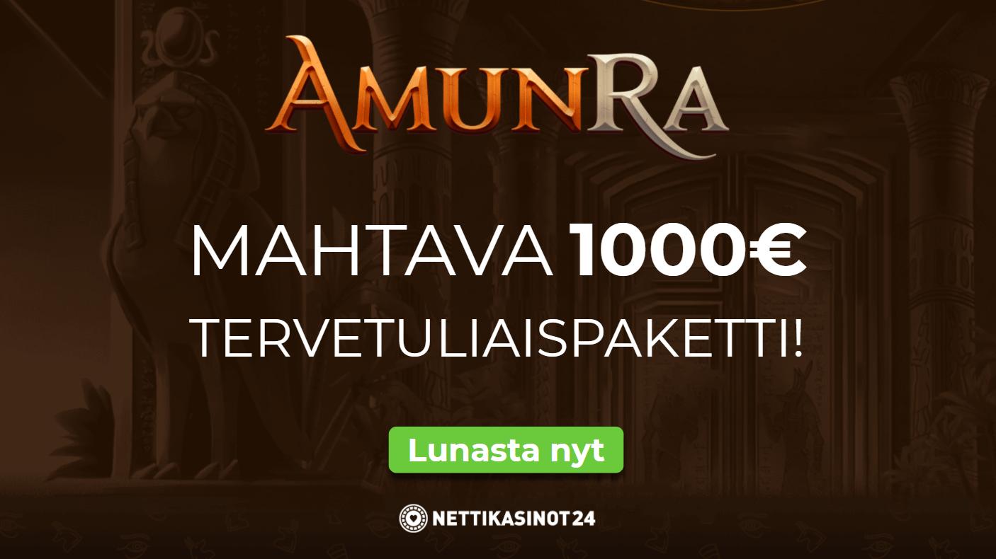 amunra tarjous - Lähde peliseikkailulle AmunRa Kasinolle
