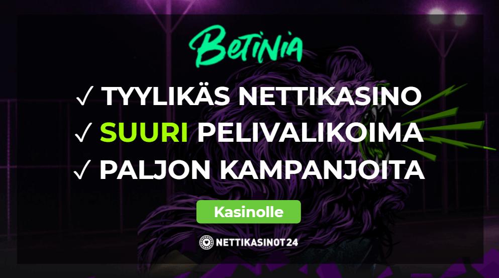 betinia casino arvostelu - Betinia Casino