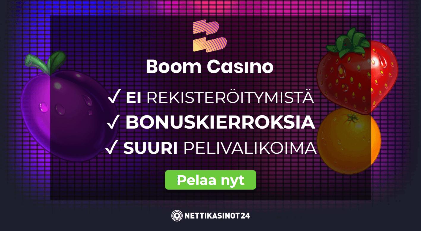 arvostelussa boom casino