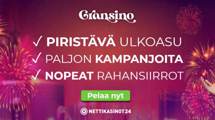 Gransino kasino tarjoaa monipuolisesti kampanjoita pelaajille