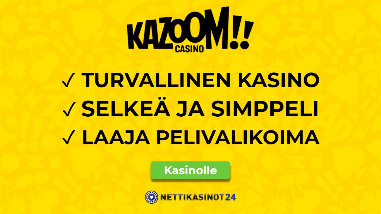 kazoom casino kokemuksia