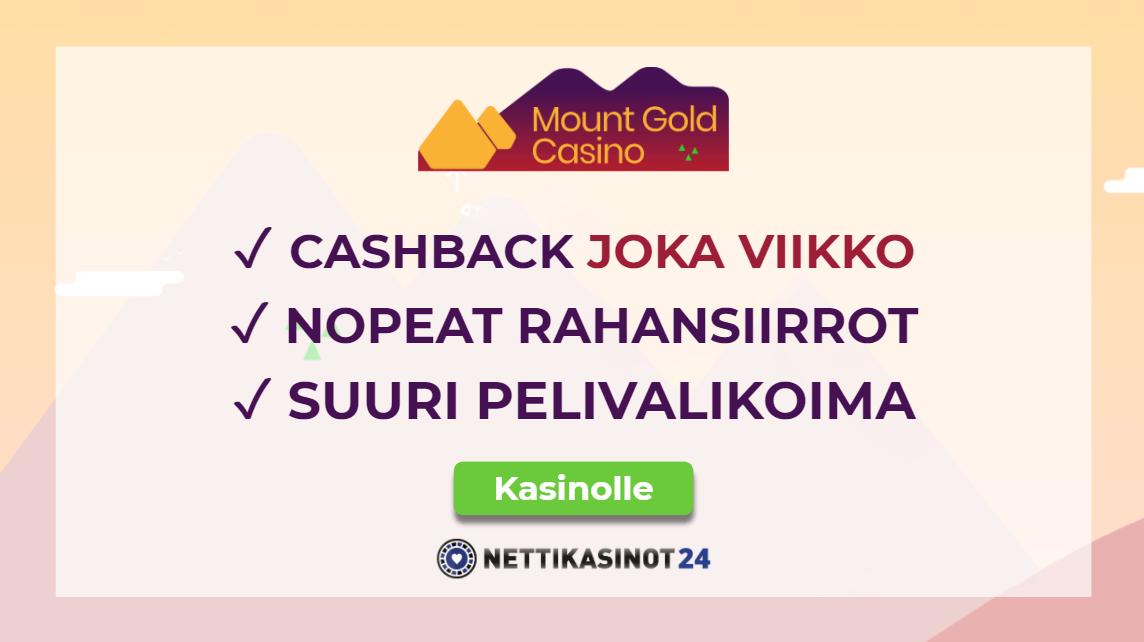 Mount Gold Casinon viikoittainen käteishyvitys