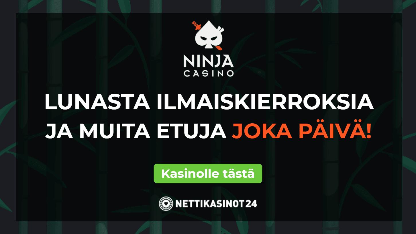 ninja casino aarrearkku yllatyksia joka paiva - Avaa aarrearkku täynnä palkintoja joka päivä!
