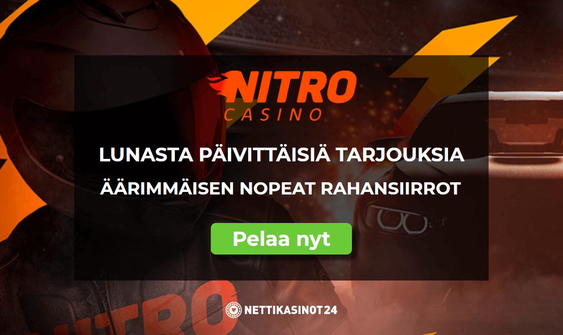 nitro casino uutinen - Räjähdysmäisen nopea uutuuskasino