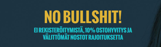 no account no bullshit - No Account Casinon käteishyvitys kaikille!