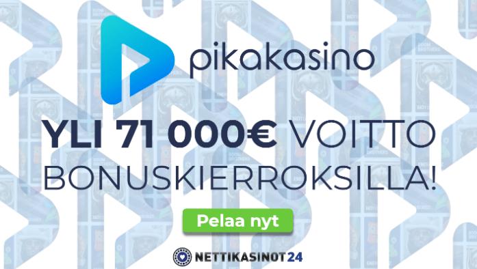 Mahtava yli 71 000 euron voitto bonuskierroksilla