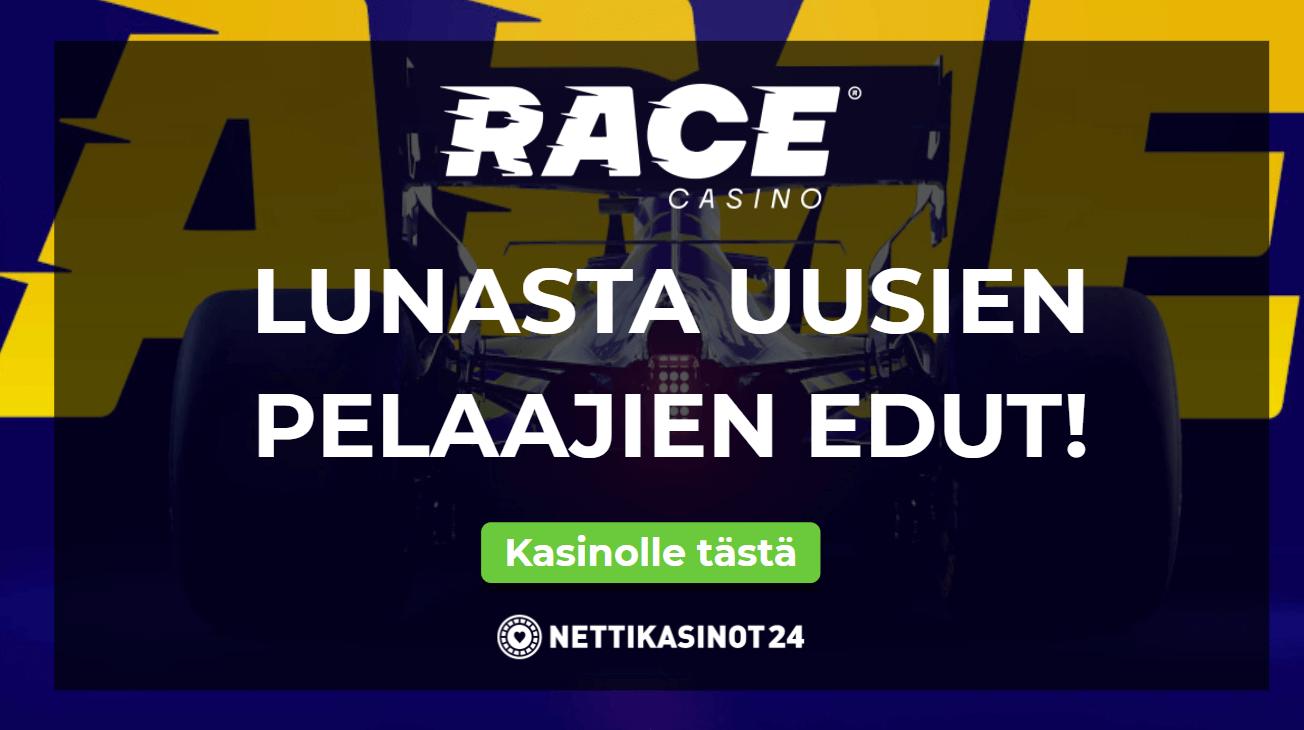 race kasino uutinen - Nappaa bonarit F1-auton vauhdilla