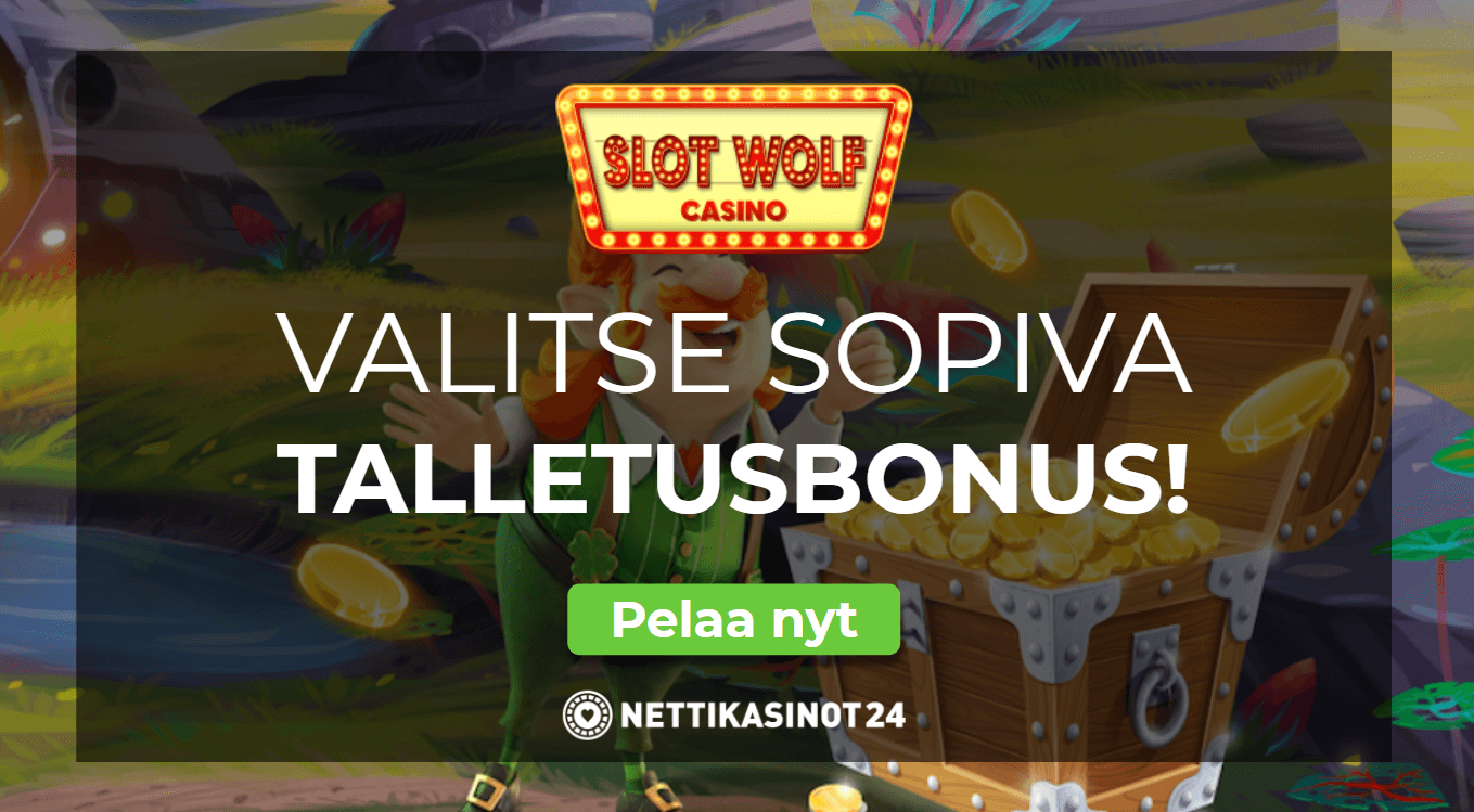 slotwolf tervetuliaistarjous - Valitse budjettiisi sopiva bonus