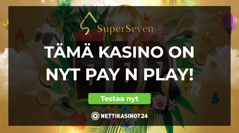 superseven casino uutinen - Talleta nopeasti nyt myös SuperSevenillä!