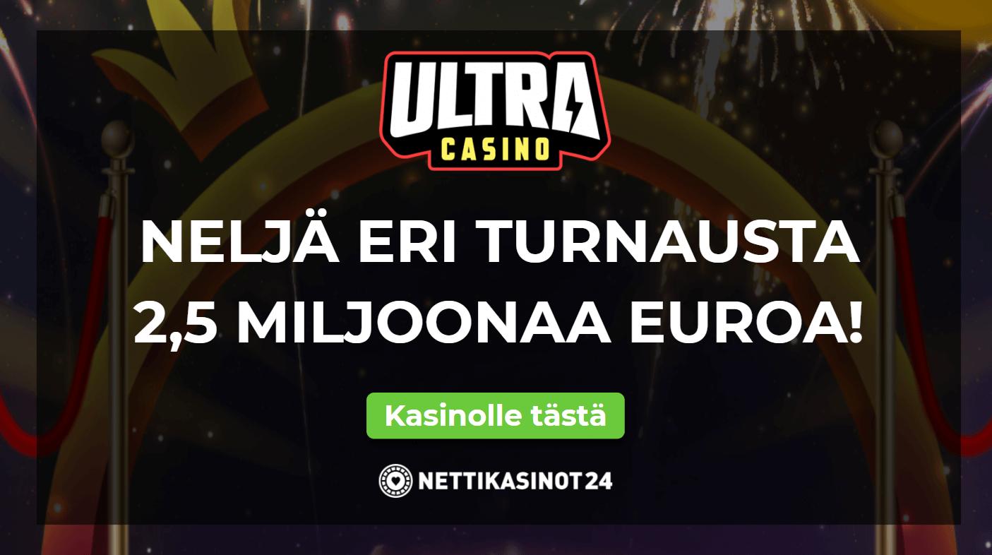 ultracasino kateiskisa - Upea 2 500 000€ potti rahapalkintoja!