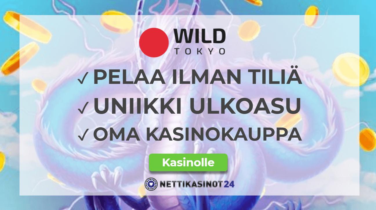 wildtokyo arvostelu - Kerää kolikoita ja lunasta etuja