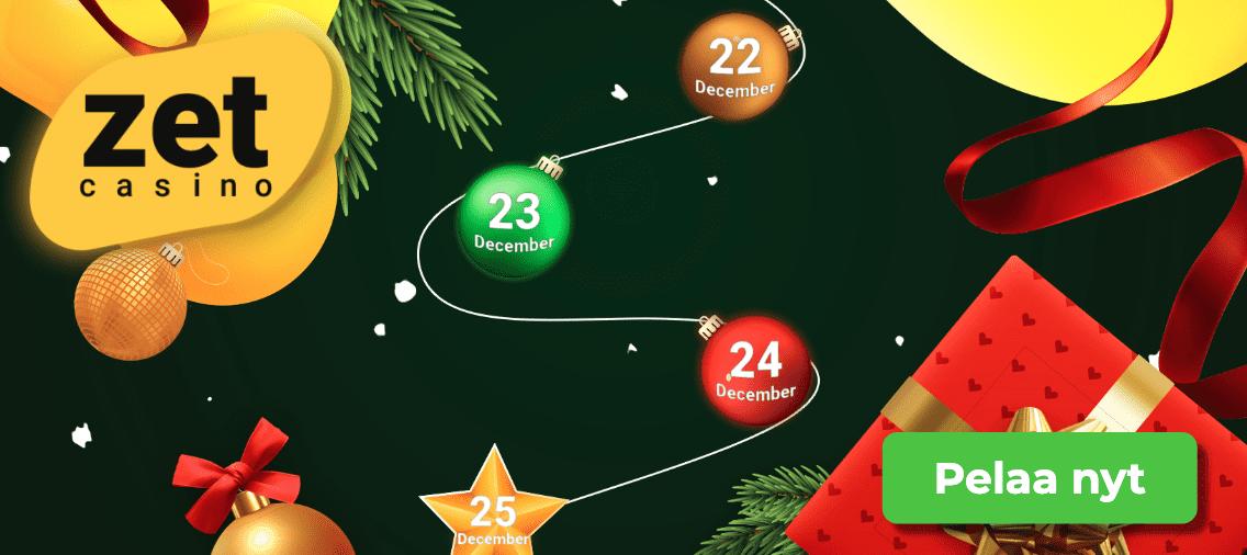 zet casino joulukalenteri - ZetCasinon avokätiset joulukampanjat